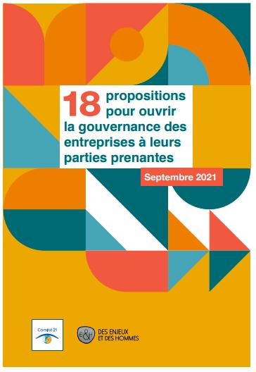 18 propositions pour ouvrir la gouvernance des entreprises à leurs parties-prenantes