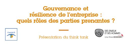Think tank Gouvernance et résilience de l'entreprise