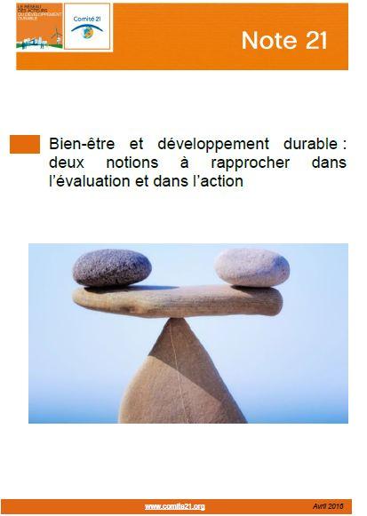 Parution de la Note 21 « Bien-être et développement durable   deux ... f5bd38f30102