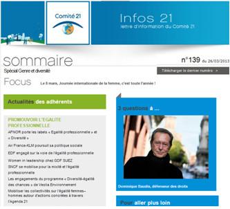 Parution de la newsletter Infos 21 Spécial genre et diversité 2f44791ad2db
